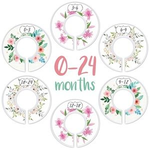 Floral Baby Closet Dividers Organizers 0-24 Months